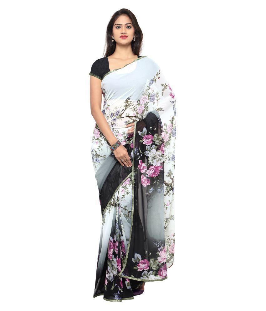 Kalaa Varsha Multicoloured Georgette Saree