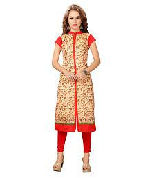 Elevate Women Multicoloured Poly Cotton Straight Kurti