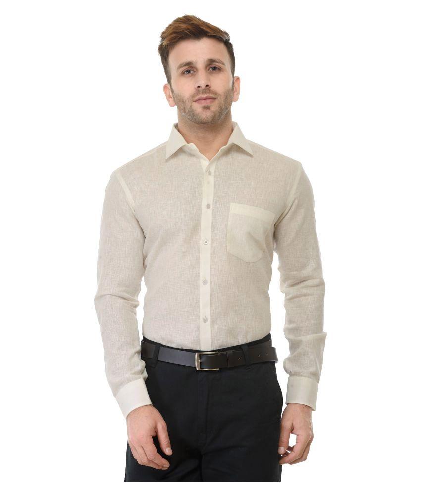 RG Designers Off-White Formal Slim Fit Shirt