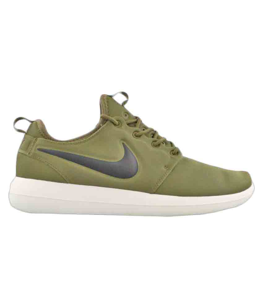 cheap for discount a478e 33038 Nike Roshe Two Green Running Shoes - Buy Nike Roshe Two Green Running Shoes  Online at Best Prices in India on Snapdeal