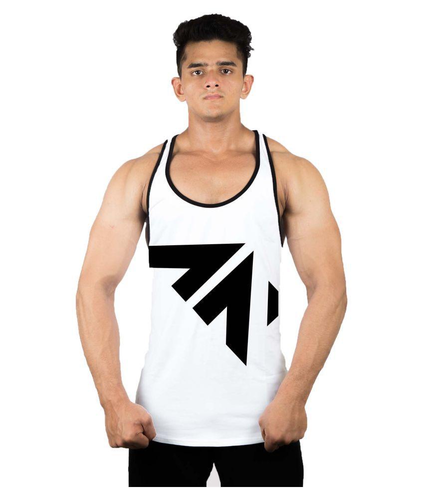 Aesthetic Nation All Over White Fitness Vest