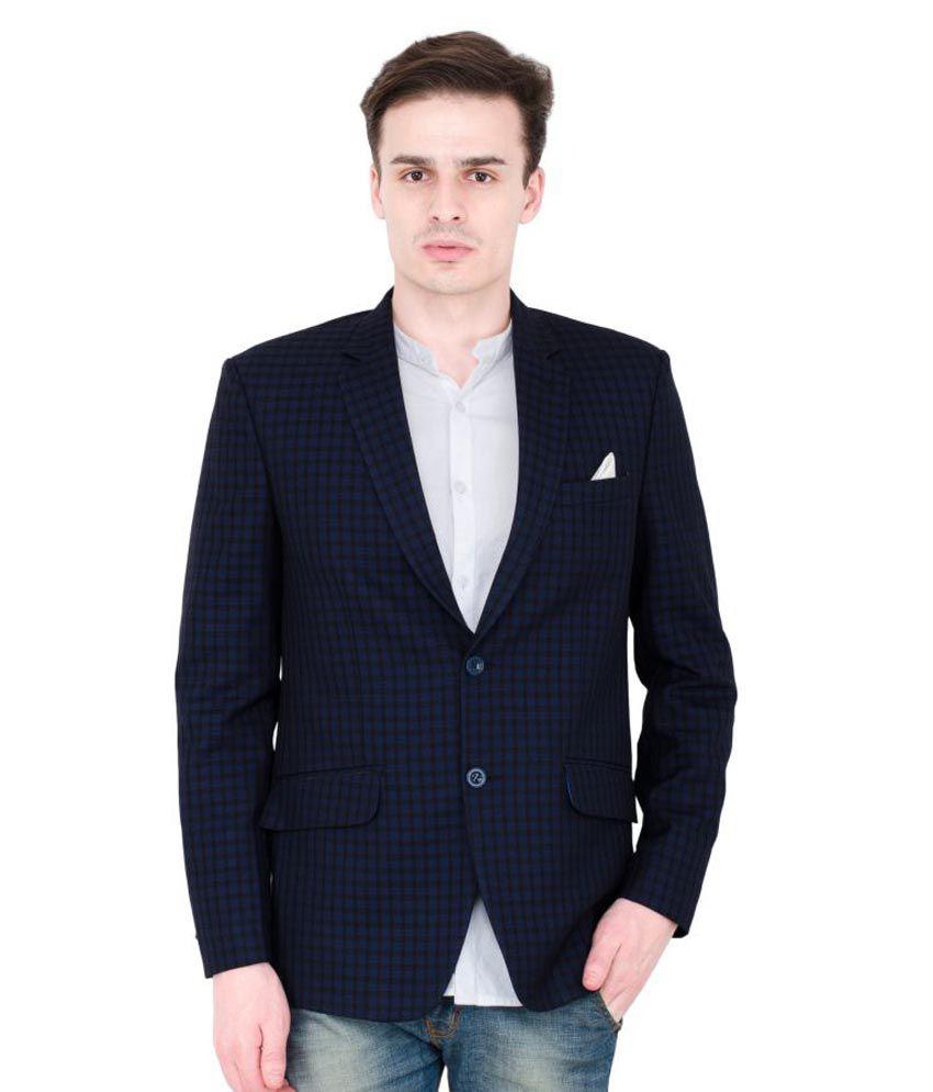 Lorenzini Designs Blue Checks Party Blazers Pack of 2