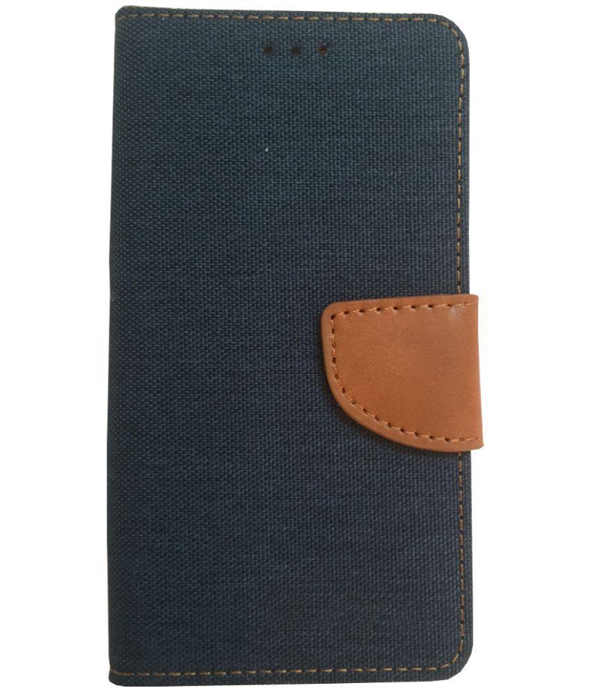 Nokia Lumia 730 Flip Cover by Lomoza - Blue