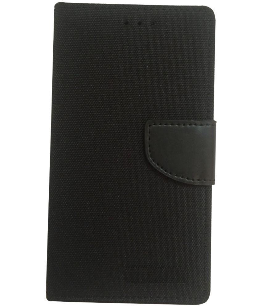 Vivo X5 Max Flip Cover by Lomoza - Black