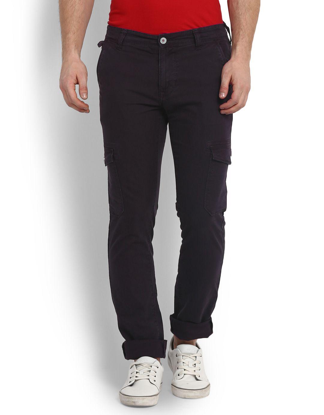 LAWMAN pg3 Grey Fit Flat Trousers