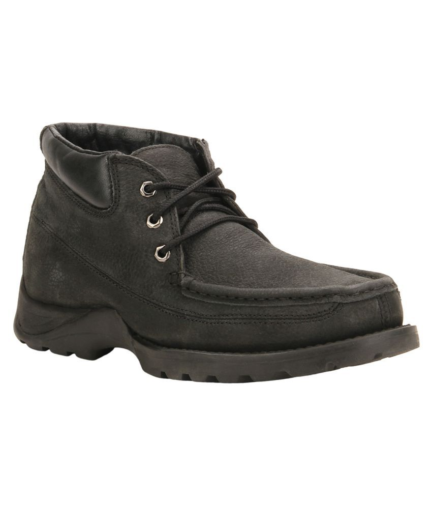 Woodland Black Casual Boot
