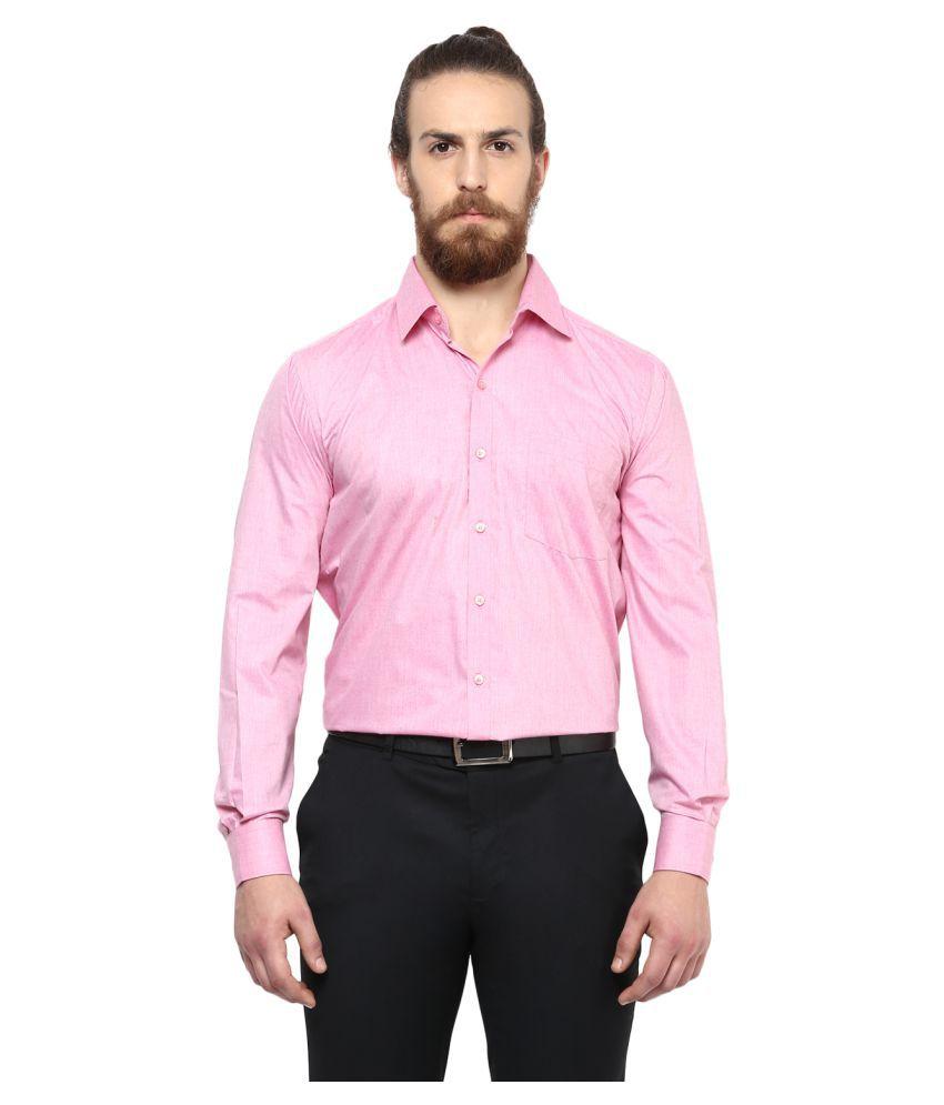 Copperline Pink Formal Slim Fit Shirt