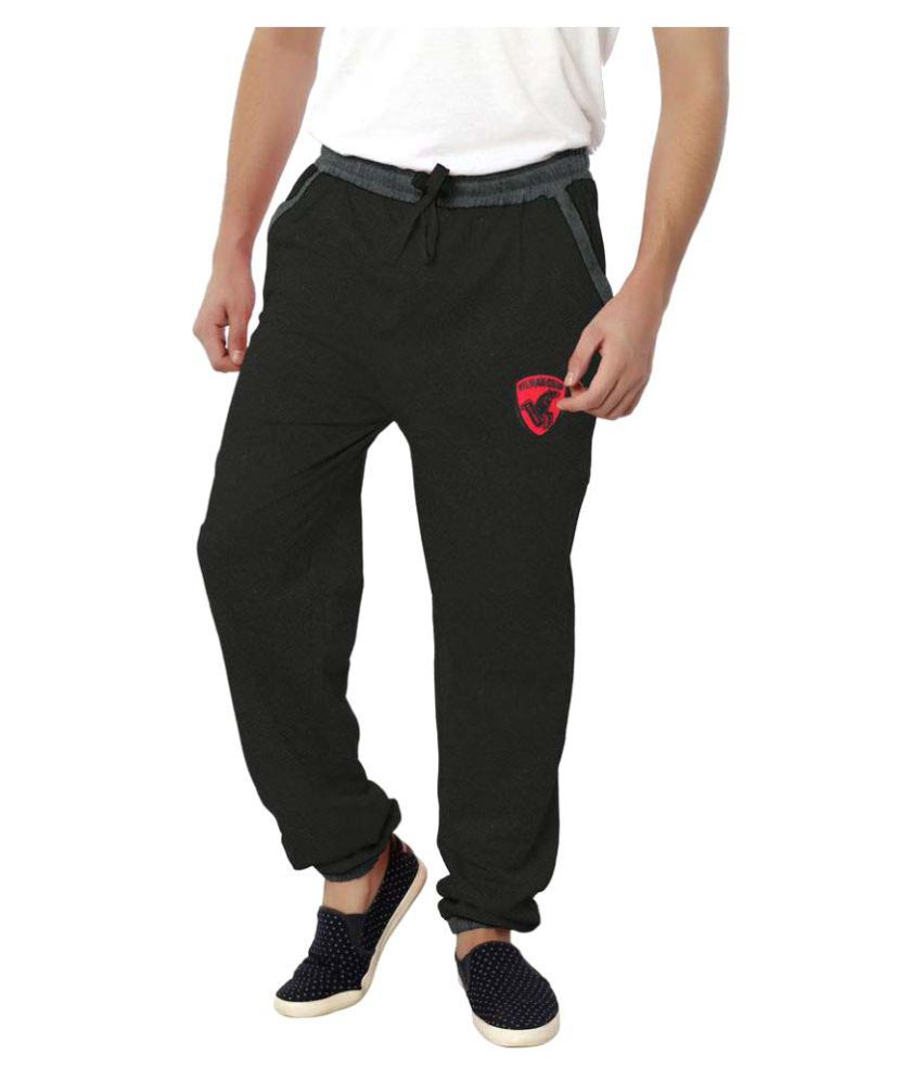 Filmax® Originals Black Cotton Sports Track Pant