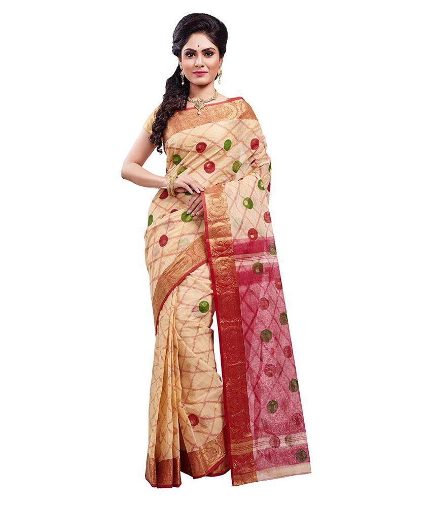 Slice of Bengal Beige Cotton Saree