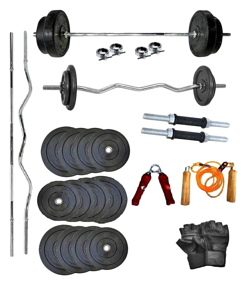 wolphy 50 kg home gym set buy online at best price on snapdeal. Black Bedroom Furniture Sets. Home Design Ideas