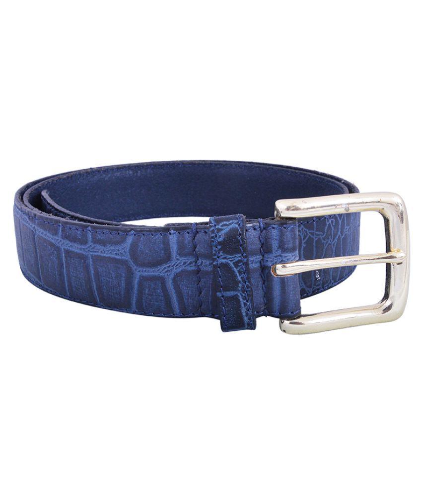 Earnam Blue PU Casual Belts