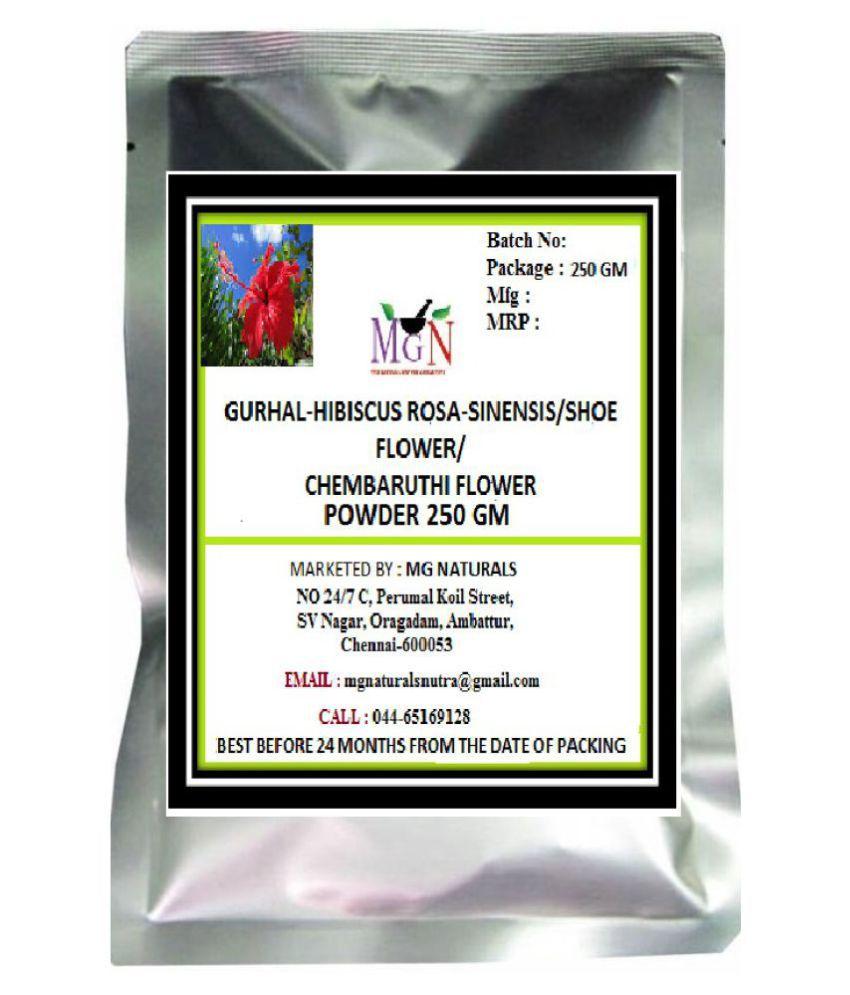 Mg Naturals Gurhal Hibiscus Flower Powder 250 Gm Facial Steam