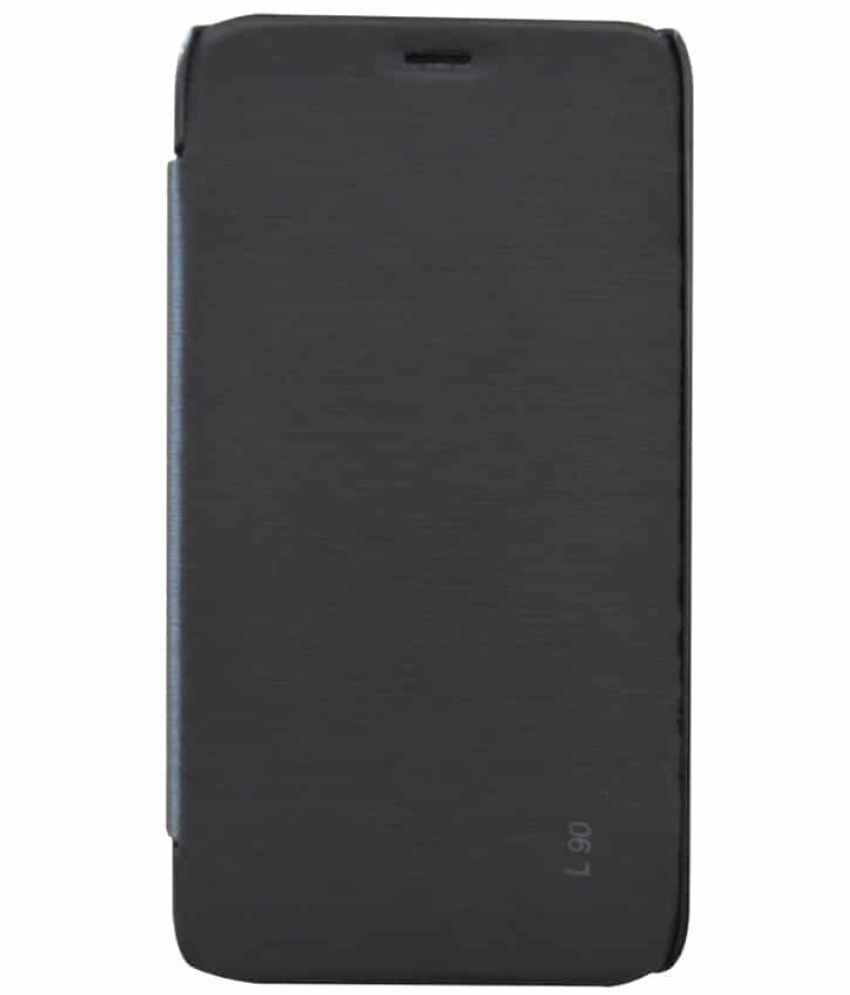 Lg L90 Flip Cover by Coverage - Black
