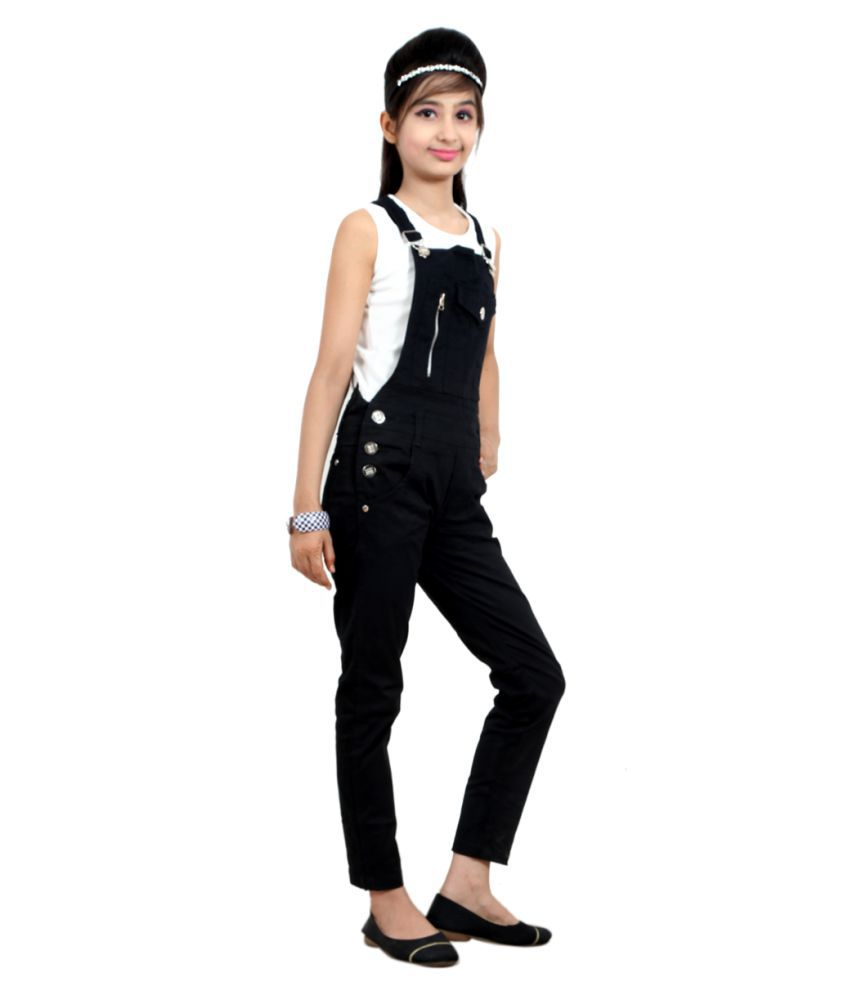 4a0a94fa346f Sunday Casual Black Cotton Dungaree - Buy Sunday Casual Black Cotton  Dungaree Online at Low Price - Snapdeal
