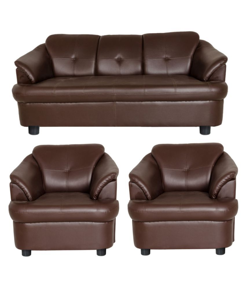 Online Sofas: Gioteak Gayana Brown Sofa Set