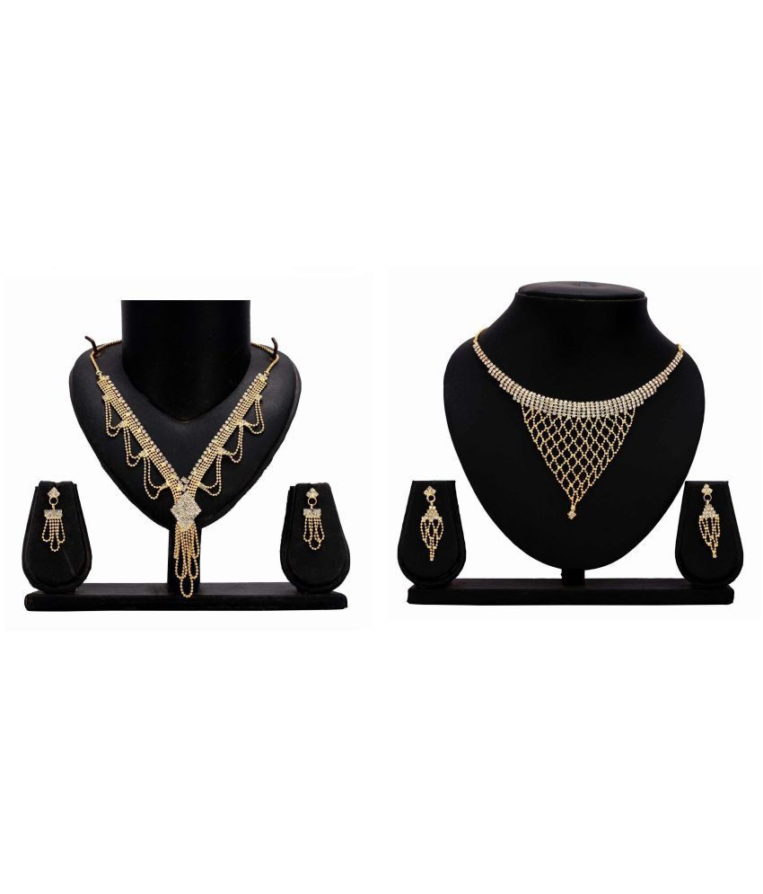 Bahucharaji Creation Presents Golden Alloy Necklace Set Pack of 2