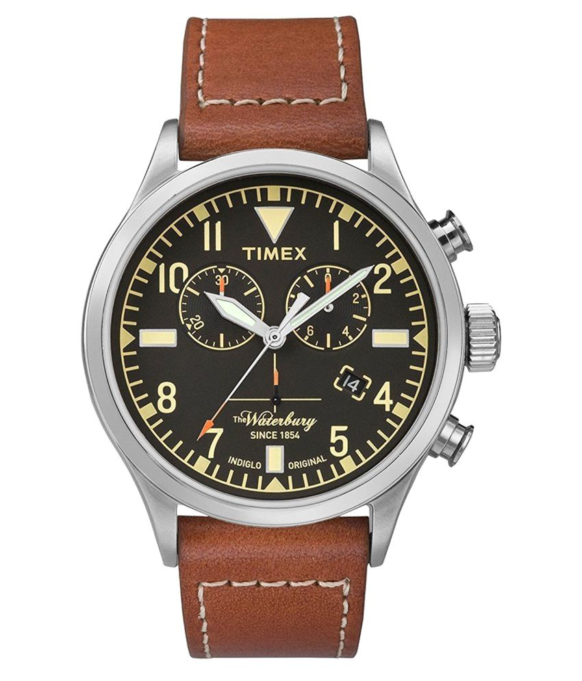 times collection waterbury wing timex watch leather red shoe watches chronograph