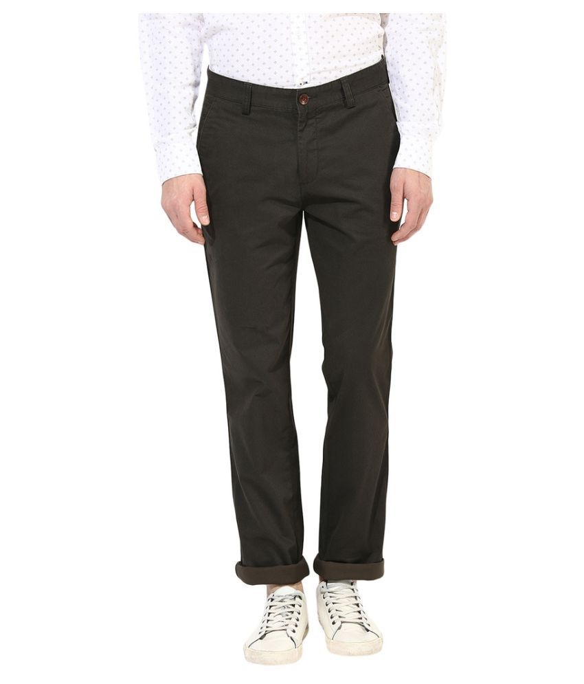 Turtle Grey Regular -Fit Flat Trousers