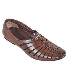 Kolapuri Centre Brown Designer Shoe
