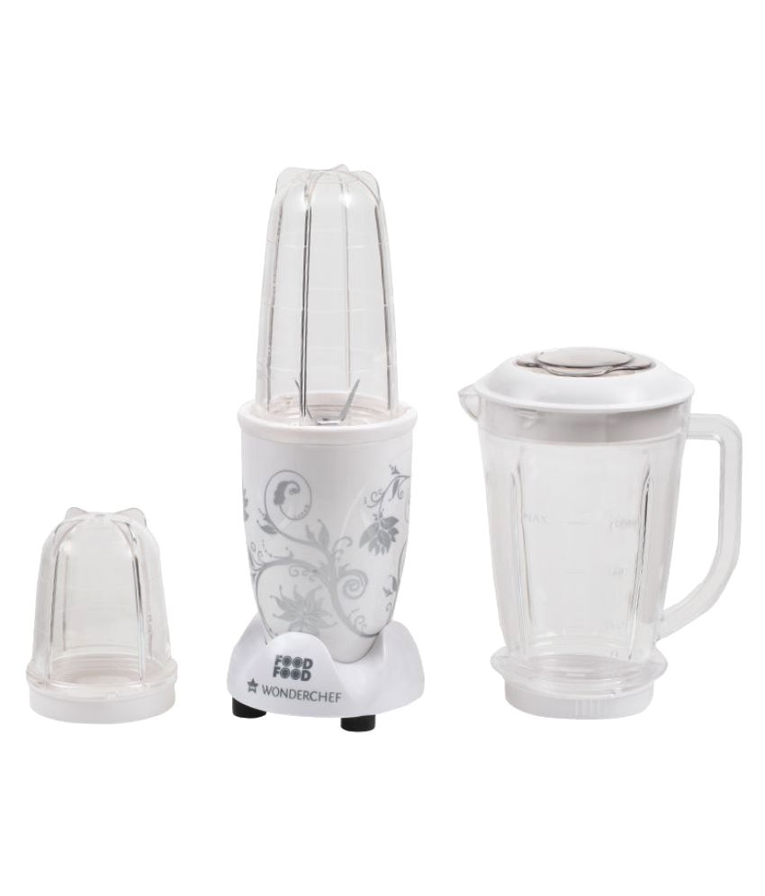 Wonderchef Nutri-Blend Mixer Grinder, 400W, 3 Jars (White)