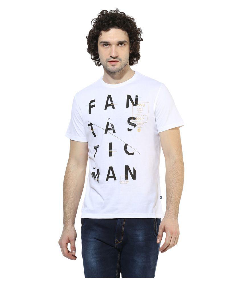 Turtle White Round T-Shirt