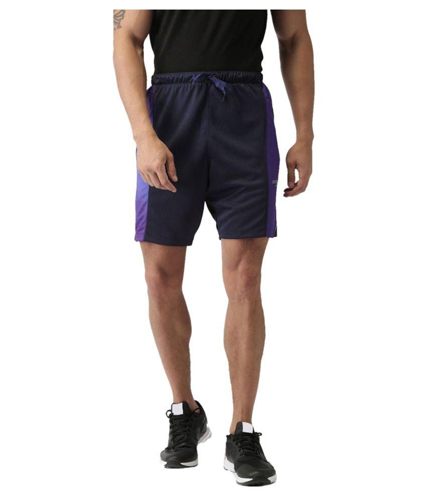 2GO Dare Navy Print Running Shorts