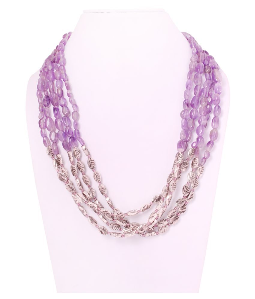 Amethyst Semi Precious stones GS 5 line string