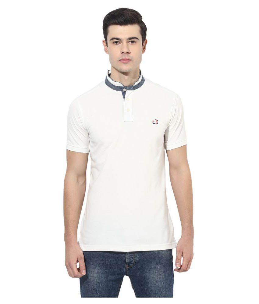 London Bridge White High Neck T-Shirt