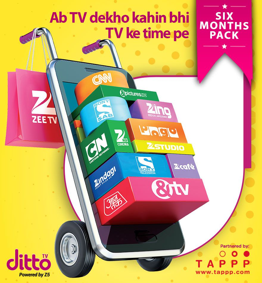 Dittotv 6 Months Snapdeal deals
