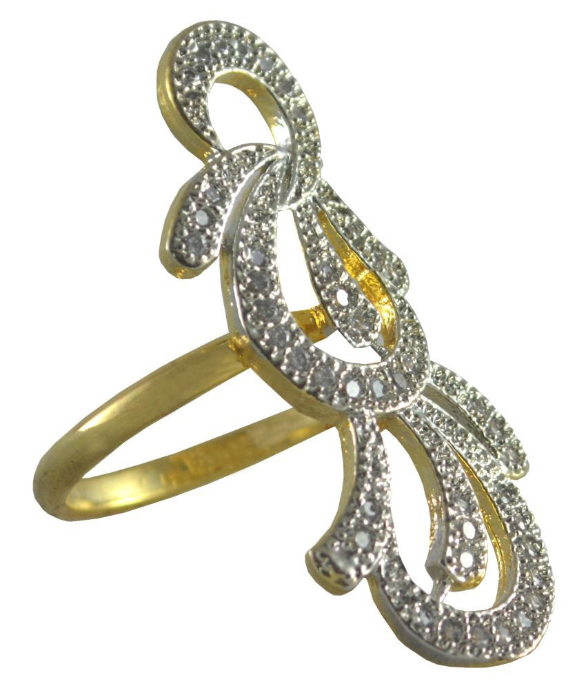 Rejewel American Diamond Ring For Women