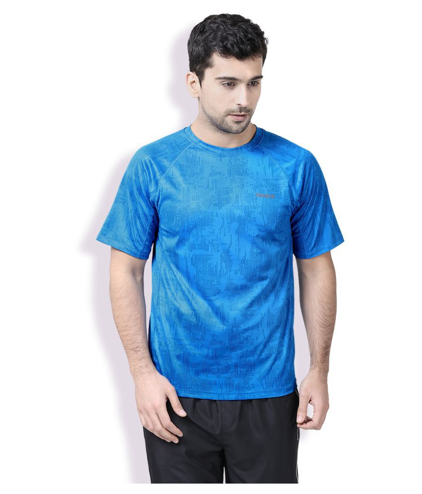 Admiral Blue Polyester T-Shirt