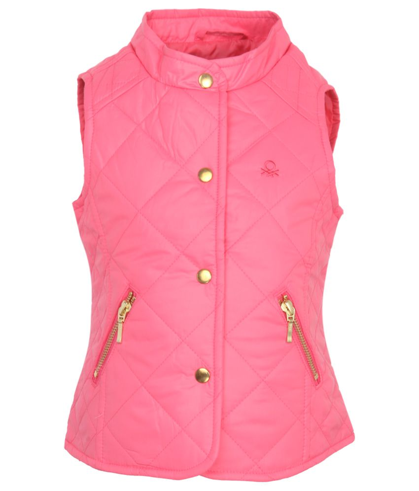 United Colors of Benetton Pink Girls Jacket