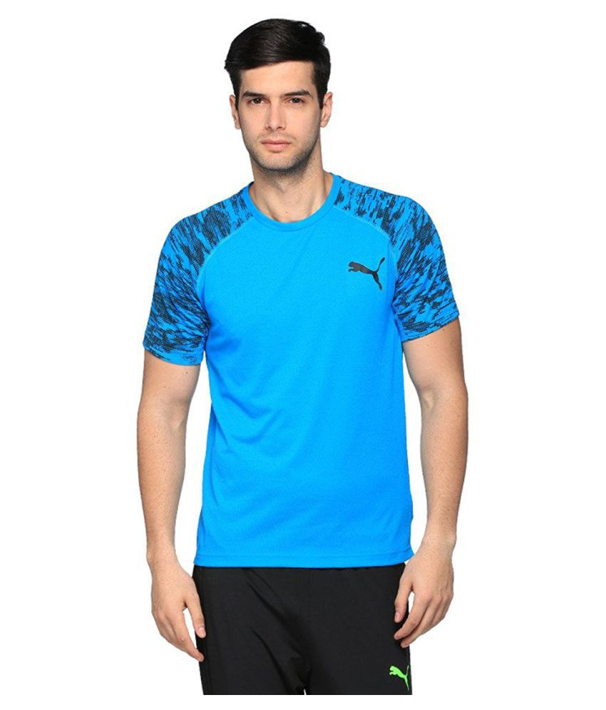 Puma Men's Round Neck Polyster T-shirt