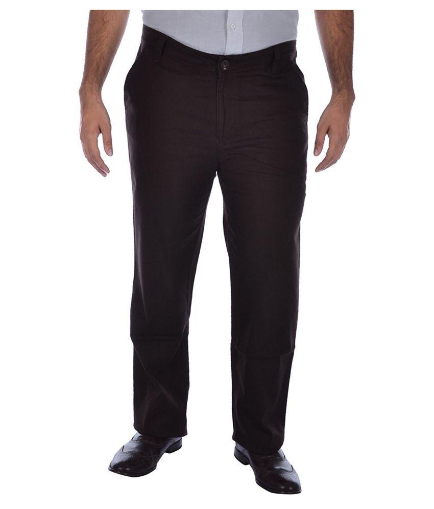 Saba Brown Regular Fit Jeans