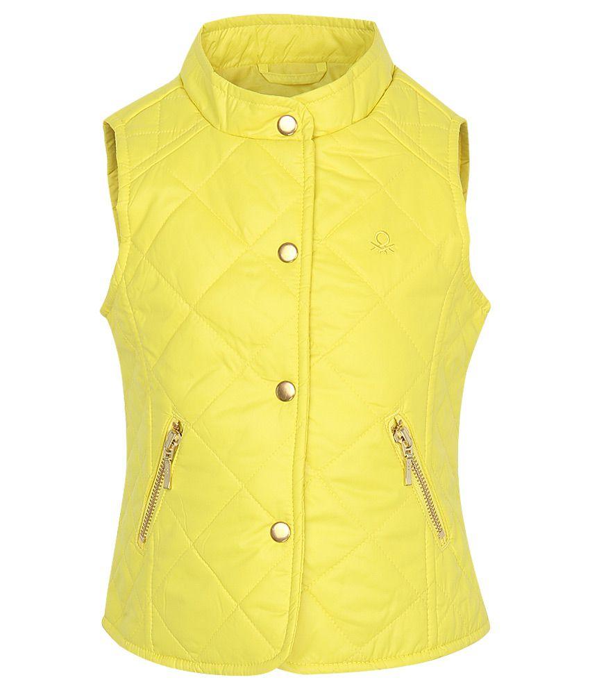 United Colors of Benetton Yellow Girls Jacket