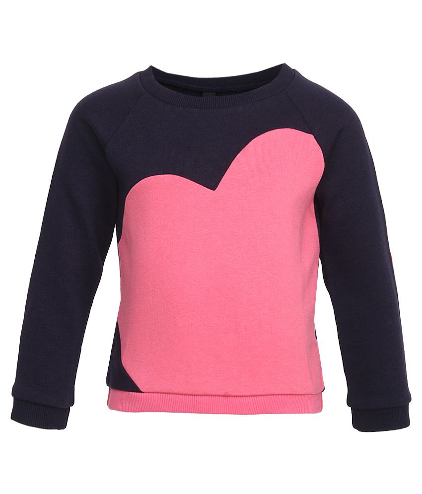 United Colors of Benetton Pink Girls Sweatshirts