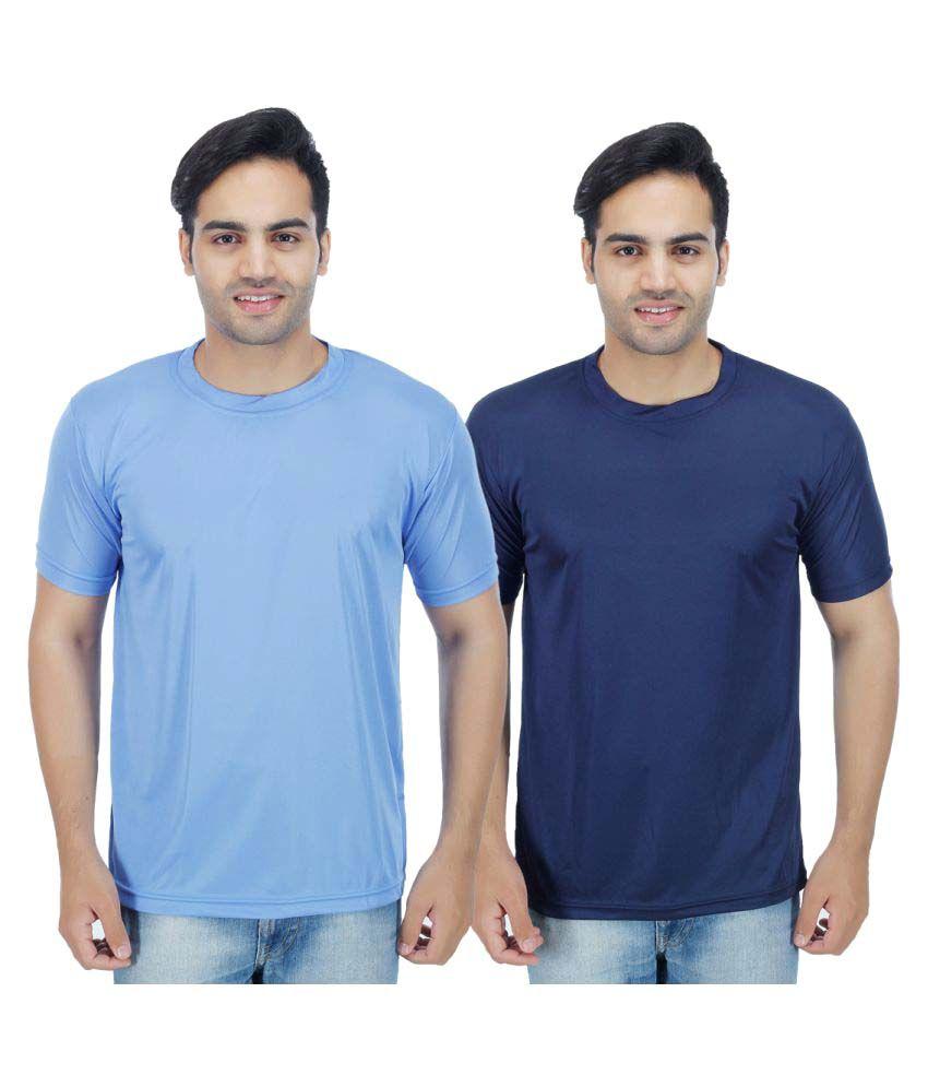 Muassa Blue Round T-Shirt Pack of 2