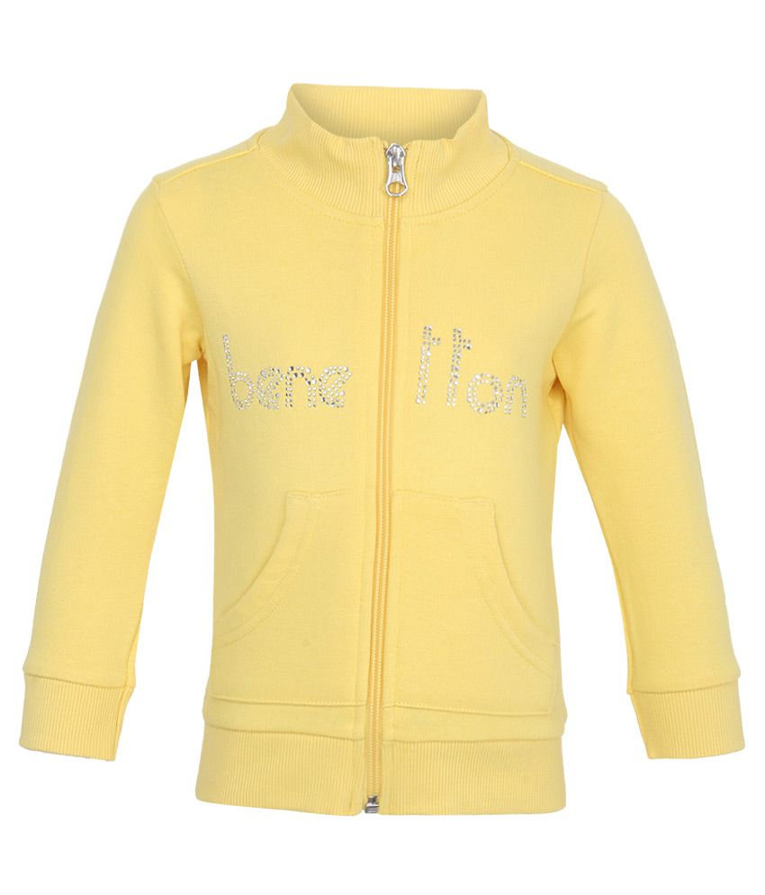 United Colors of Benetton Yellow Girls Sweatshirts