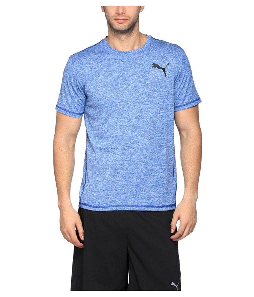 Puma Men's Round Neck Synthetic T-Shirt