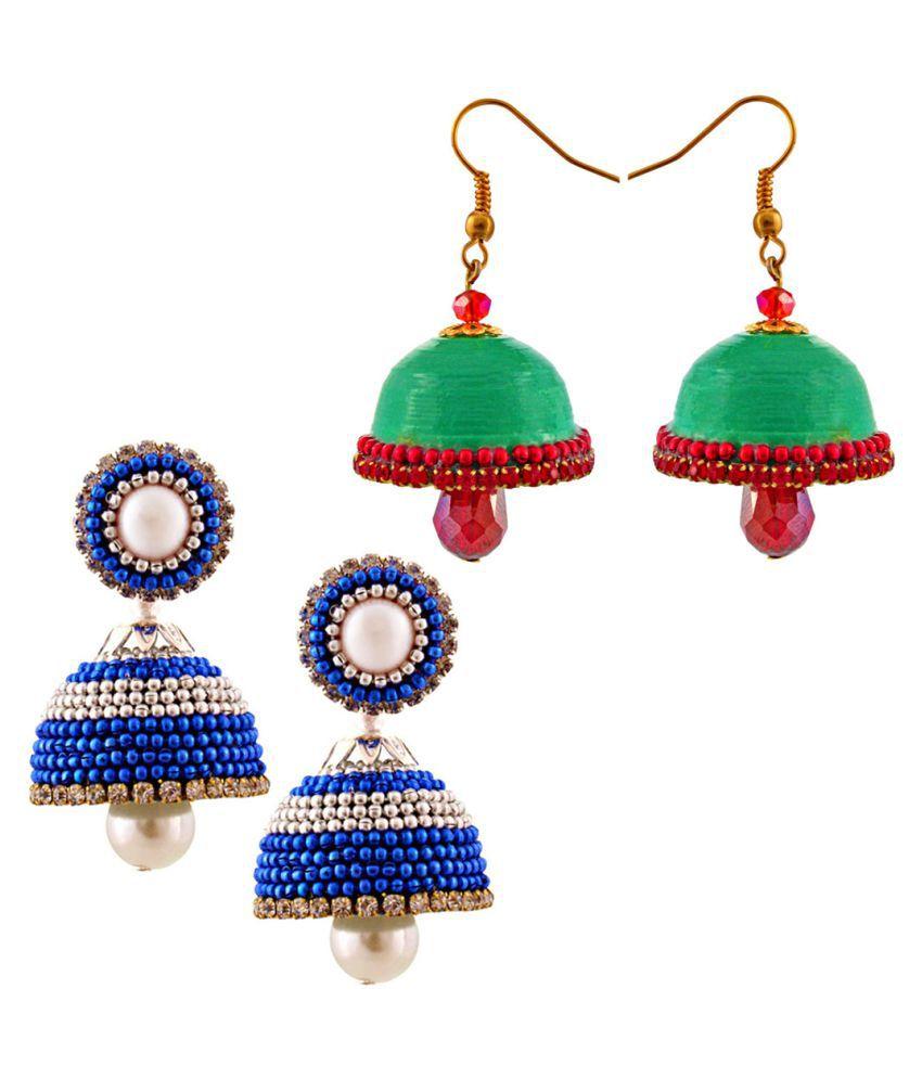 Shree Mangalam Mart  Set of Two Pretty Looking Multicolor Jhumki