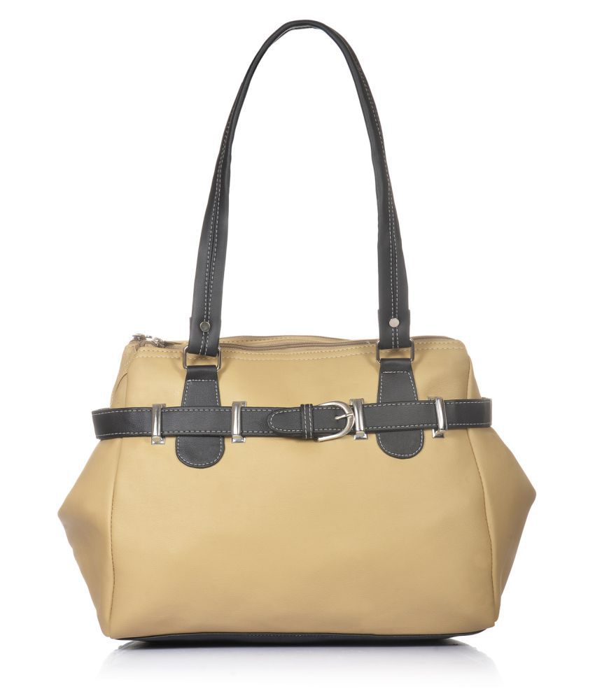 Fostelo Beige P.U. Shoulder Bag