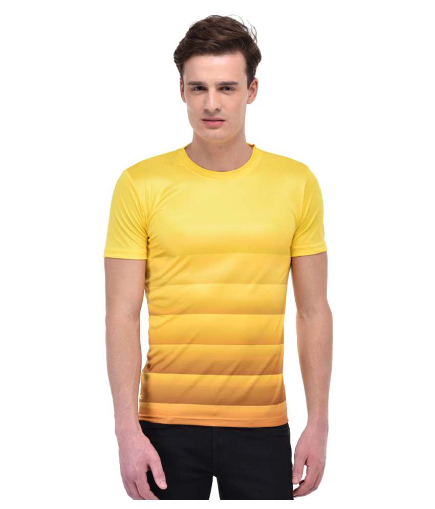 Zagros Yellow Polyester T-Shirt