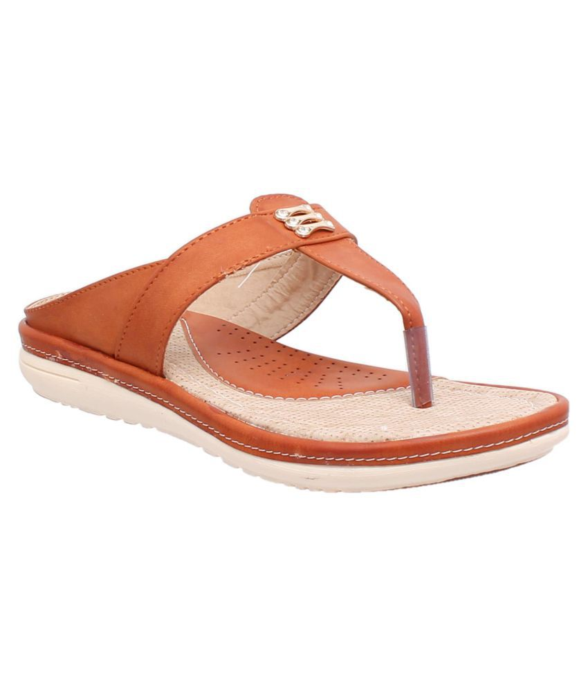 fcde655ad1c3 Bare Soles Tan Flats Price in India- Buy Bare Soles Tan Flats Online at  Snapdeal