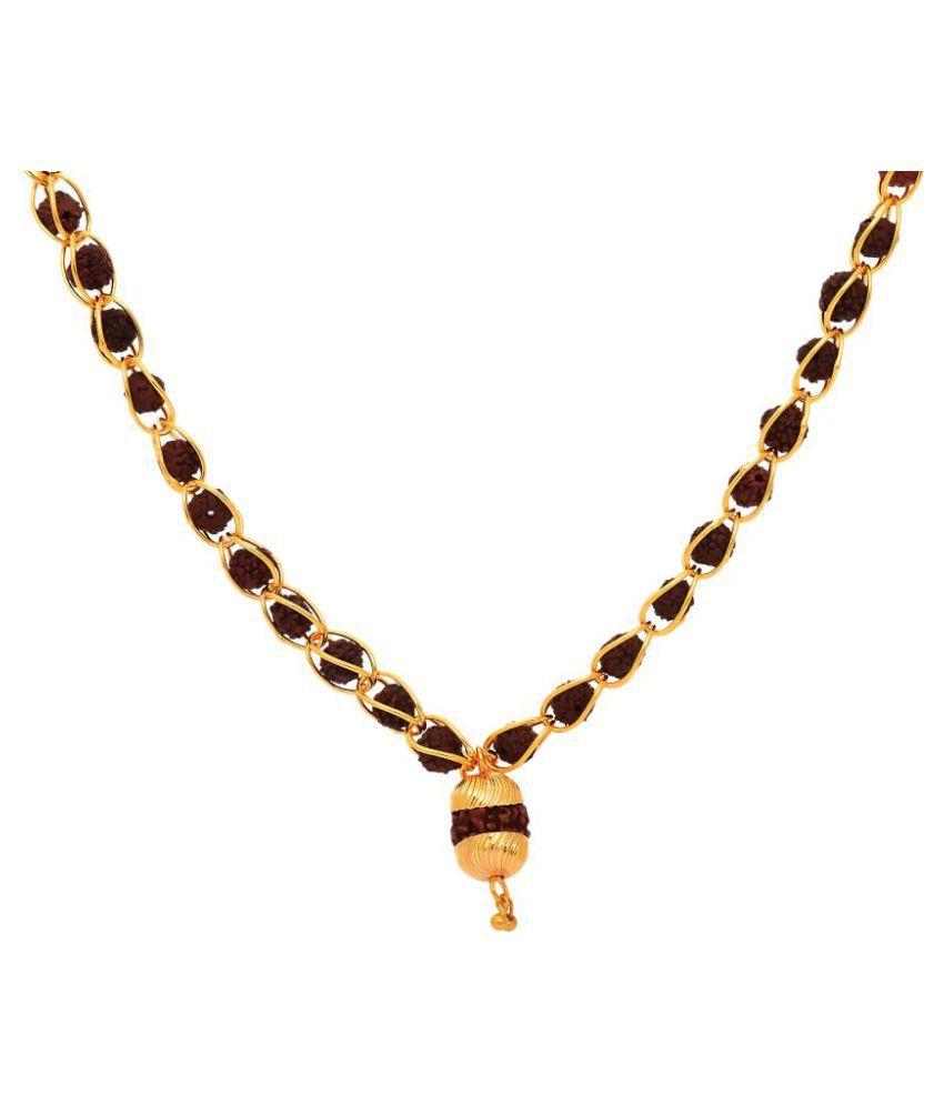 Golden Rudraksha Chain Mala + Rudraksha Bead
