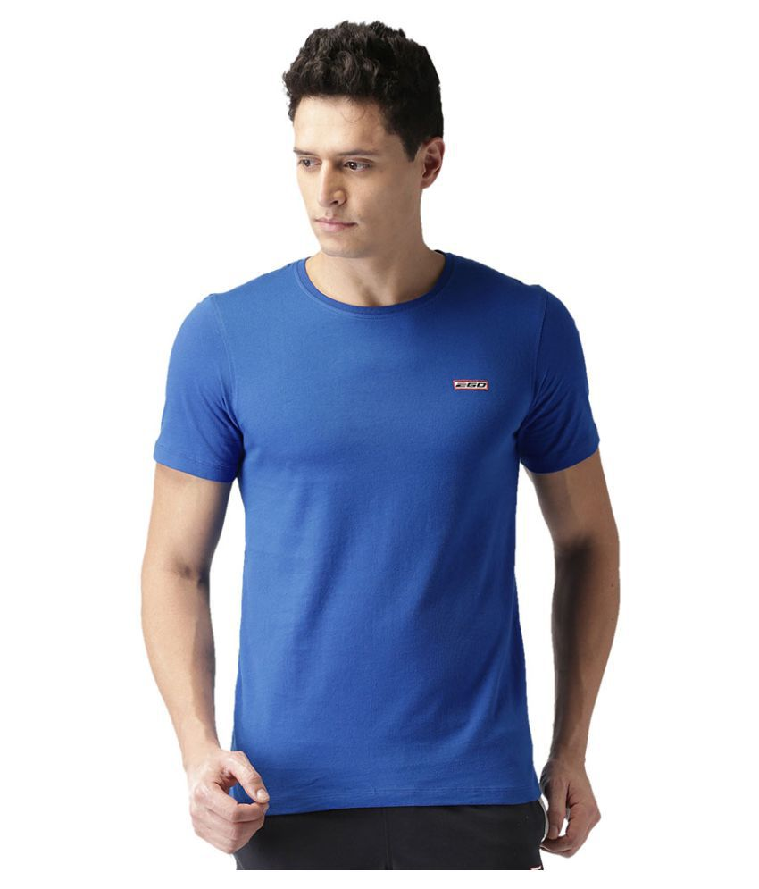 2GO Electric Blue Half sleeves Round Neck T-shirt