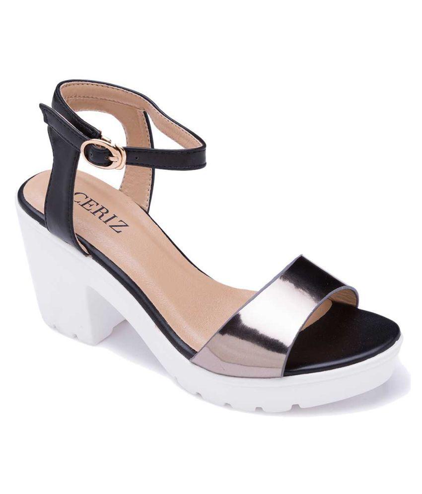 b59041f6334 Ceriz Multi Color Block Heels Price in India- Buy Ceriz Multi Color Block  Heels Online at Snapdeal