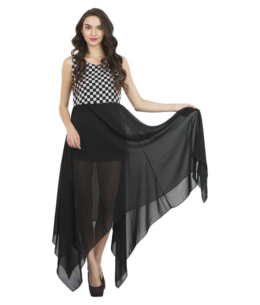 Triraj Georgette Asymmetric dress