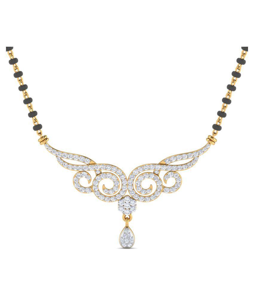 Samaira Gems & Jewels 14k Gold Swarovski Mangalsutra