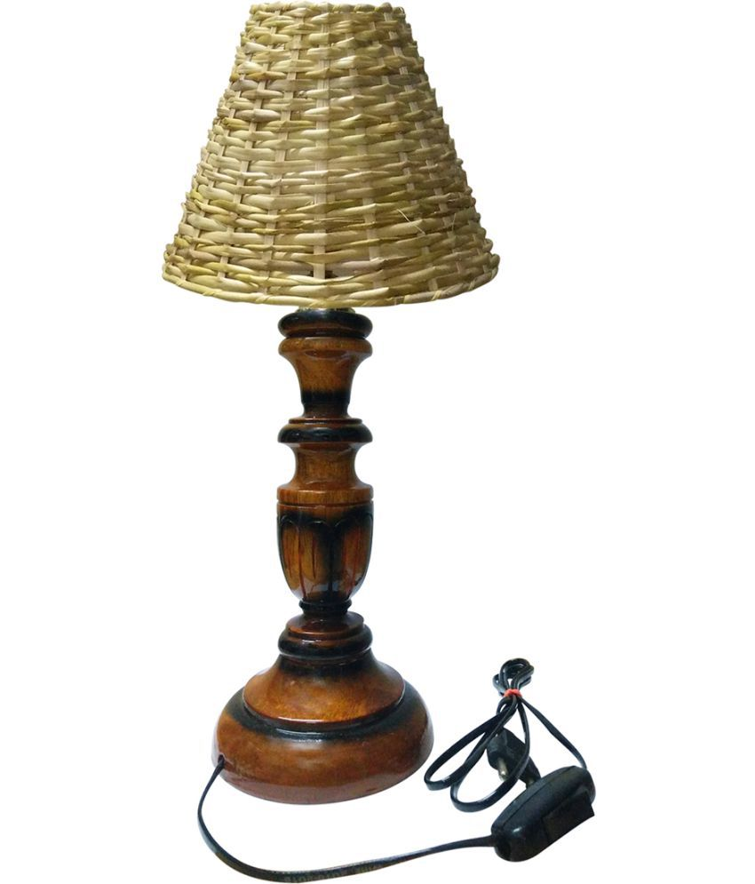gold dust 43 wood table lamp pack of 1 buy gold dust 43 wood table lamp pack of 1 at best. Black Bedroom Furniture Sets. Home Design Ideas