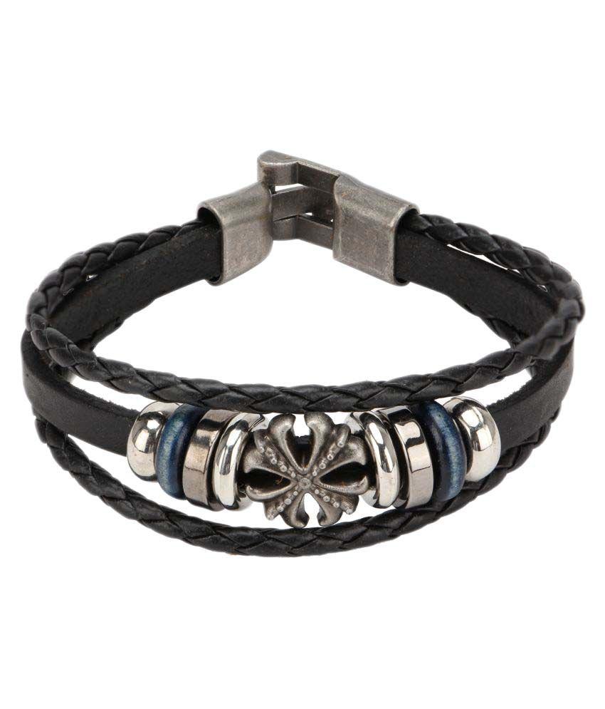 Hide Bulls Faux Leather Bracelet
